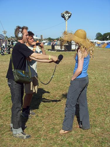 Interview på Roskilde Festival