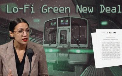 AOC reads the Green New Deal *but make it lo-fi*