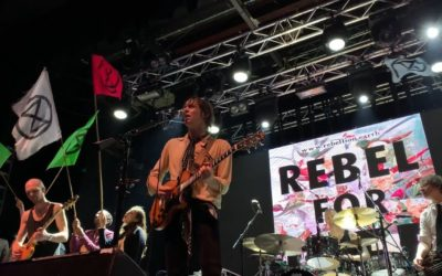 Extinction Rebellion join Razorlight on stage at Electric Brixton
