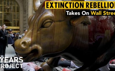Extinction Rebellion NYC Takes A Stand At Wall Street's Charging Bull