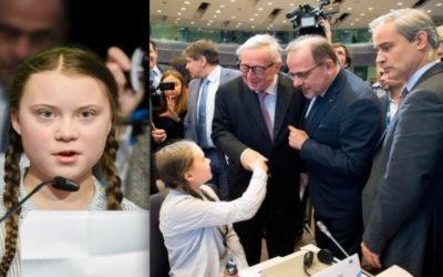 Greta Thunberg taler til Europa-Kommissionen