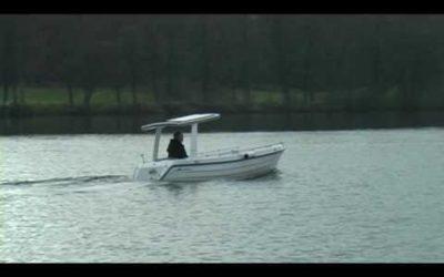 Solbåd ved Ry – Solar Powered boat at Ry, Denmark